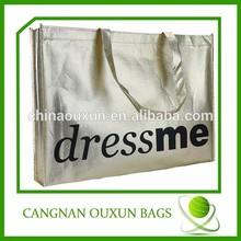 Laminated non woven large metallic tote bag