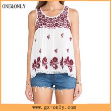 New design cotton blouse neck embroidery design