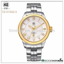 AIBI01002-3 gold case strap can be change print logo 2115 movement watch