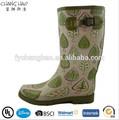 ( ch. W015) barato el diseño de su propio sexo damas botas de goma lluvia de fabricación china