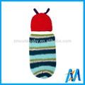 جميلة ملونة صور مجموعة دودة الصوف قبعة الكروشيه القبعات المنسوجة من الصوف والحياكة للأطفال الرضع