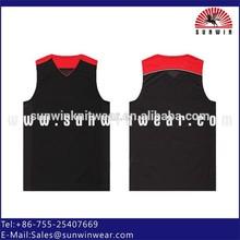 Hotsale plain black basketball jersey/shirt/ tank top, custom basketball uniforms