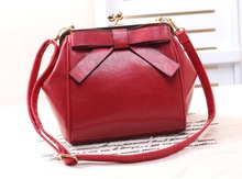 2015 Latest design fashion bags for women leather bowknot handbags
