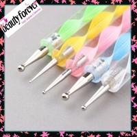 [new]classic nail art kit color custom dotting pen files manicure