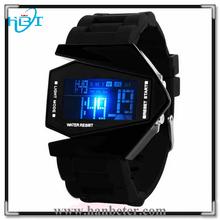 China Watch Factori New led silicon bracelet airplane unisex Stopwatch/Chronograph
