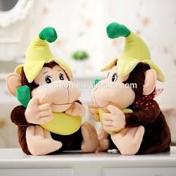 Novely cuddly monkey with Banana soft toys,Stuffed Banana monkey delicate animals