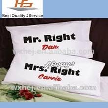 300TC cotton custom words images pillow case pillow covers