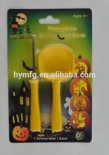 2pcs plastic halloween pumpkin carving kits