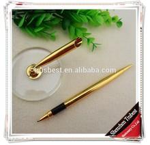 TT-05 new design golden stand pen , light desk pen with holder pen , gift table pen