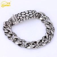 2015 high quality stainless steel big enamel twist bracelet