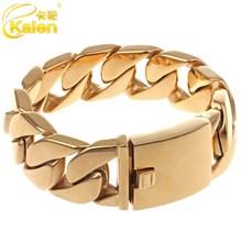 shiny big gold jewellery dubai stainless steel weight gold bracelet