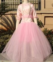 Popular pink flower girl dress for kids china wholesale