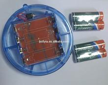Magnetic base flashing led rotating beacon / battery operated construction light