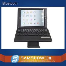 CE FCC Rohs Wireless Bluetooth Keyboard PU leather case for ipad mini