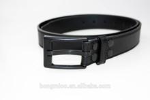 No metal security belt leather belts with plastic belt buckles
