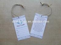 garment printed paper care label