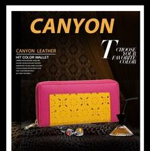 2015 western style women leather wallet