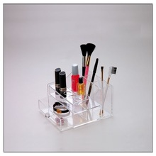 Clear high quality acrylic cosmetic display case