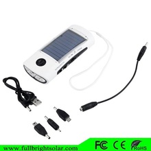 2015 New Year gift ! big sale mini portable solar panel charger with flashlight with 4LED
