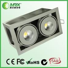 new design 2*20W Square COB LED Downlight high output 3600lm