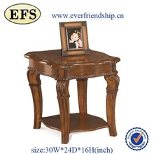 Knocked down hand carved small portable wooden coffee tables