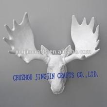 hand painted elegant unique deer head wall decoration/wall-mounted rhino,elephant,ram animal head wall decoration
