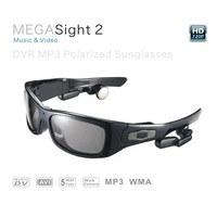 Megasight2 HD 720P Video eyeglasses dvr camera hidden for MP3 music player Support TF/SD card for riding and outdoor sports