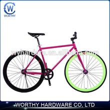 700c single speed fixed gear bike with 40mm fixed gear tire
