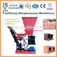 hby1-15 promotion hydraulic pressed interlocking earth block machine