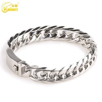 wholesale fashion stainless steel bracelet thick silver chains for men