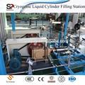 China criogénico líquido de la bomba y el vaporizador skid estación/oxígeno vaporizador de gas de la estación de llenado de equipos