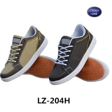 New design fashion men canvas footwear with zipper