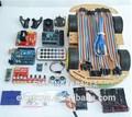 Promozione!!! Kit per auto bluetooth robot controllato tonnellate di pubblicato codici gratuiti Uno r3 mega328p per robot di sviluppo sensore di bordo