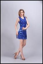 88178# popular western dress lace appliqued sequin dresses online wholesale shop