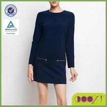 Hot sale European dress design slim long sleeve winter formal dress
