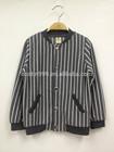 Long sleeve coat apparel for boys kid stripped varsity wear