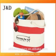 Capri Stripes Shopper Beach Tote Cotton Reusable Shopping Bag