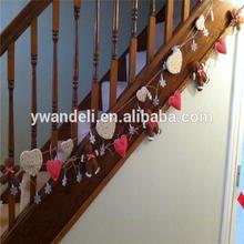 Shabby Chic Gingerbread Man & Family Heart Christmas Garland
