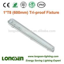 waterproof fluorescent lighting fixture with 600mm/1200mm/1500mm