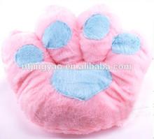 pink paw plush pillow, cute throw pillow