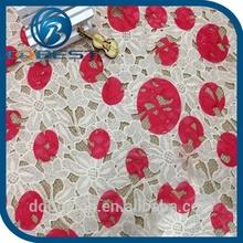 multicoloured guipure lace fabric high quality nigerian swiss voile lace fabrics lace fabric embroidery stone