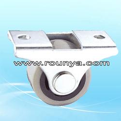 "Fixed Metal Top Plate 1"" Diameter Rigid Caster Wheel"
