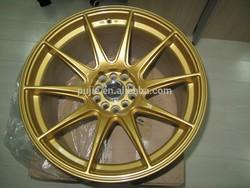 Gold Car alloy wheel rims 19*8.5