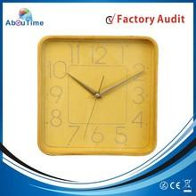 wholesale Quartz Analog Type Decorative square shape wooden /handmade wall clocks