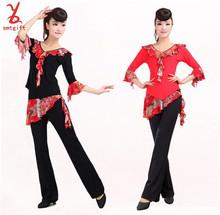 Livraison gratuite WD07 carré vêtements de danse printemps et automne costumes adultes de danse latine vêtements au prix de gros