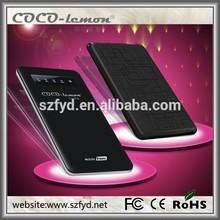 Slim external battery 4500mah external battery pack metal mobile external battery for Iphone 5 Iphone 6 Samsung smart phones