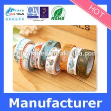 Custom printed DIY decoration japanese washi paper tape