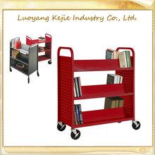 metal book cart modern school library furniture two tier book cart 3 Tiers Library Book Cart used library cart