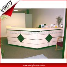 Modern Custom shape fit room Front Service Desk Design