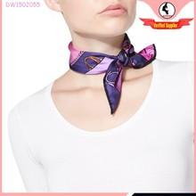 Women's Handbag print 50cm square twill silk mini scarf